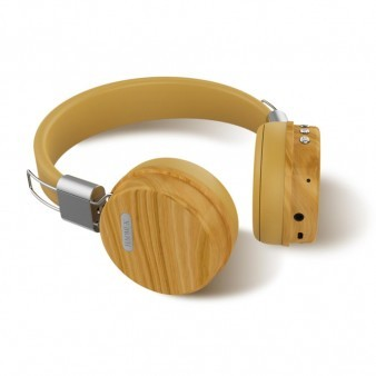 OEM-BL159 Low Price gold metal wood headphones gift bluetooth on ear fashionable wooden headset for