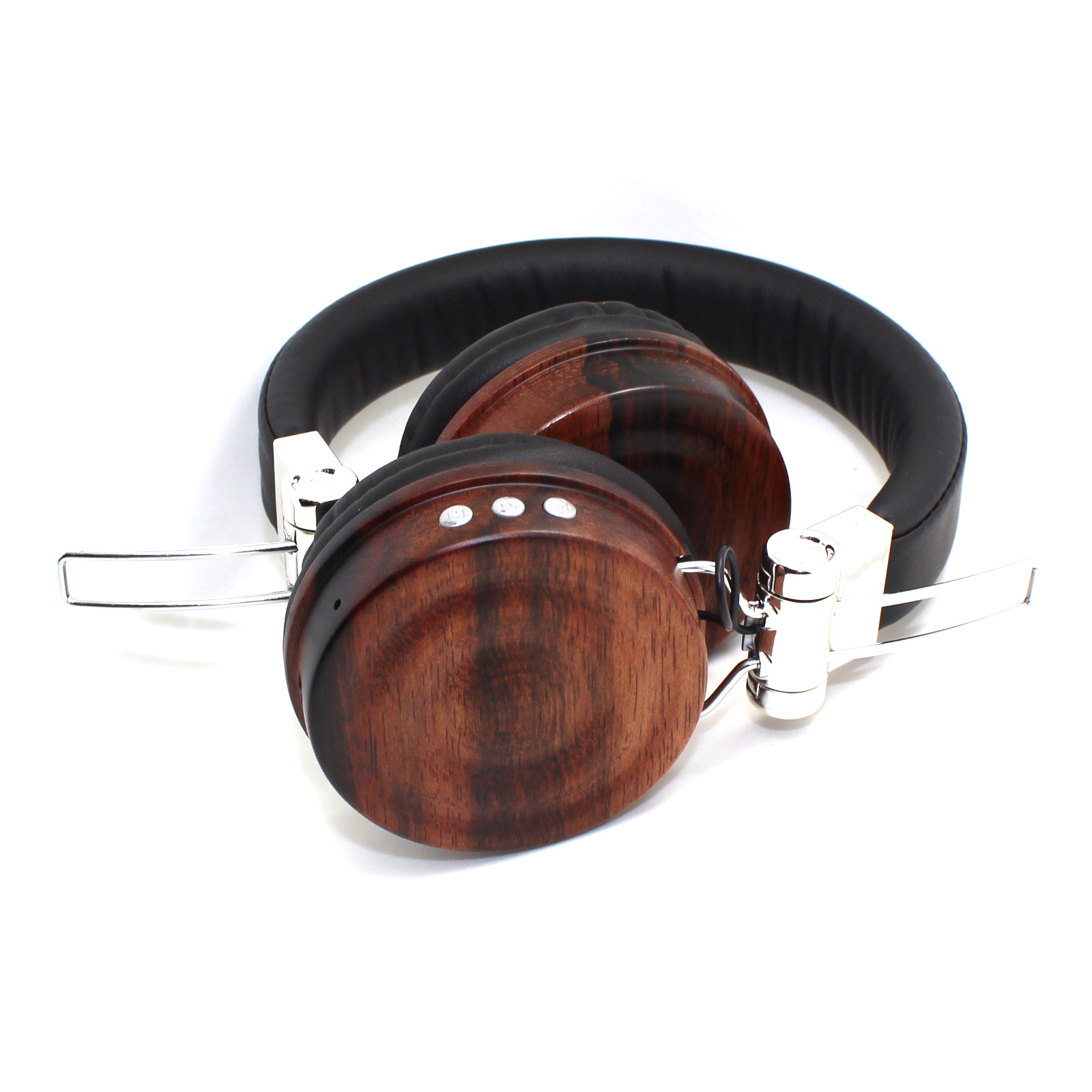 OEM-BL159 Low Price gold metal wood headphones gift bluetooth on ear fashionable wooden headset for (3)