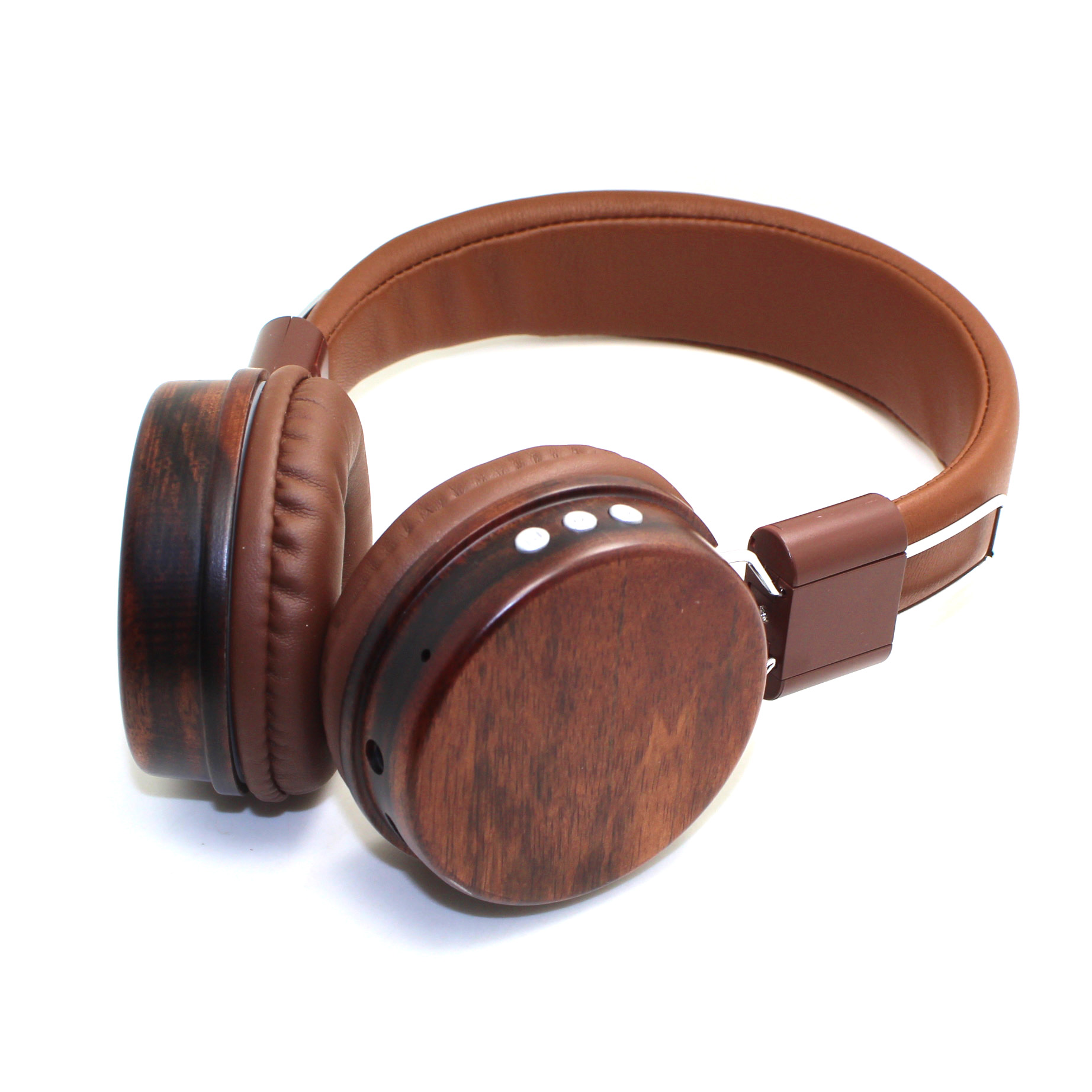 OEM-BL159 Low Price gold metal wood headphones gift bluetooth on ear fashionable wooden headset for (4)